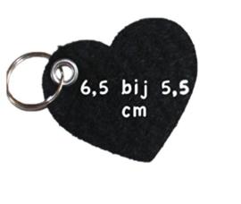 vilten sleutelhanger  hart xl ( 36 kleuren)