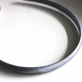Diadeem  grijs satijn 10mm