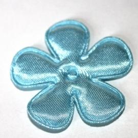 35mm babyl blauw bloem satijn