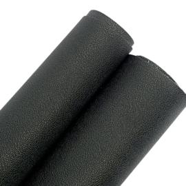 Pu leer fijn structuur zwart(bsk)