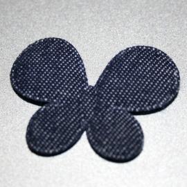 1 vlinder van spijkerstof (denim)