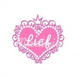 (FB153) Hart lief roze