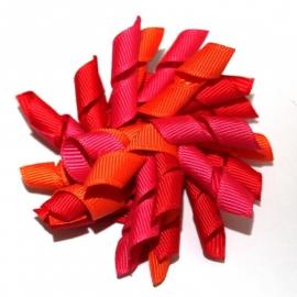 Krulliesss felroze oranje rood