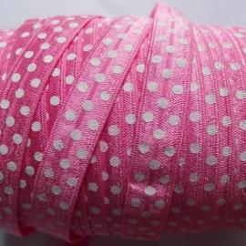 haarband elastiek felroze polkadot