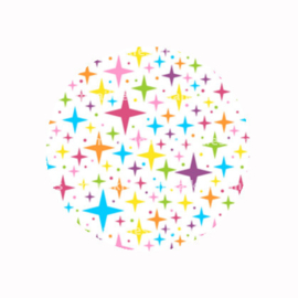 FB735 regenboog sterren wit