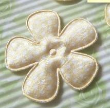35mm bloem satijn geel polkadot
