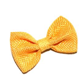 Jute strik geel