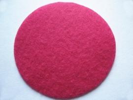 Vilt afwerkrondjes fuchsia 50mm
