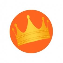 (FB44) kroon oranje