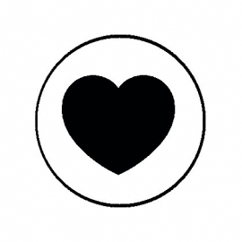 (FB527) hartje zwart wit