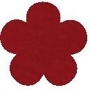 Acryl vilt donker rood 45cm bij 30cm