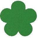Acryl vilt groen 45cm bij 30cm