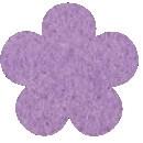 Acryl vilt lila 45cm bij 30cm