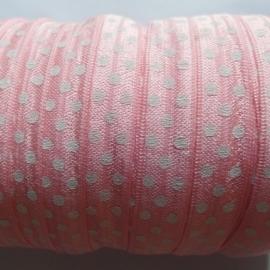 haarband elastiek polkadot roze