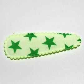 Kniphoesjes  wit appel groen ster (5cm)