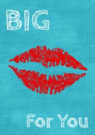 Ansichtkaart big KISS