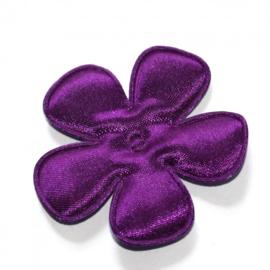 35mm satijn bloem donker paars