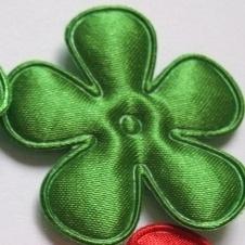 satijn bloem donker groen 25mm
