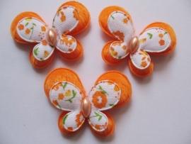 stoffen dubellaagse vlinder oranje