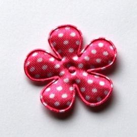 35mm bloem van satijn polkadot felroze