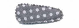 grijs3 polkadot hoesje  (3,5cm)