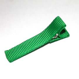 Alligator clip bekleed met groen lint