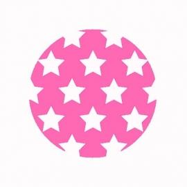 (FB493) sterren donker roze