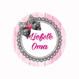 (FB603) Liefste oma roze grijs