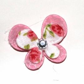 Mini dubbellaags vlinder roze