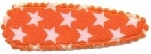 1 kniphoesjes ster oranje (55mm)