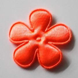 35mm neon satijn bloem oranje