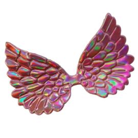 Engelen vleugel pu leer roze holografische glans