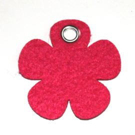 vilten sleutelhanger  bloem ( 36 kleuren)