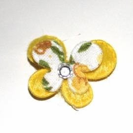 Mini dubbellaags vlinder geel