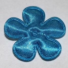 35mm fel blauw bloem satijn