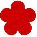 Acryl vilt rood 45cm bij 30cm