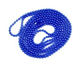 bolletjes ketting met sluiting donkerblauw (fijn)