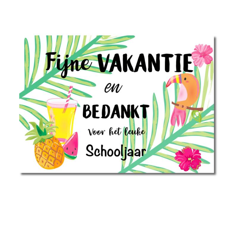 Fijne vakantie en bedankt schooljaar
