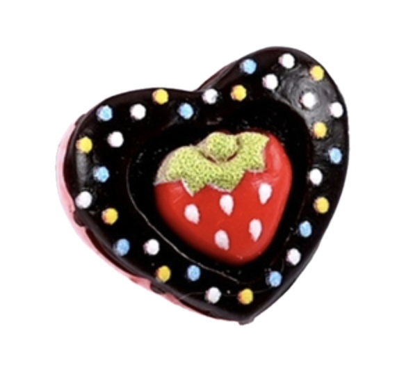 flatback hart taartje aardbei
