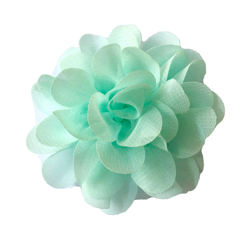 chiffon bloem pastel mint 6,5cm