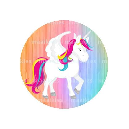 (FB638) eenhoorn pastel regenboog