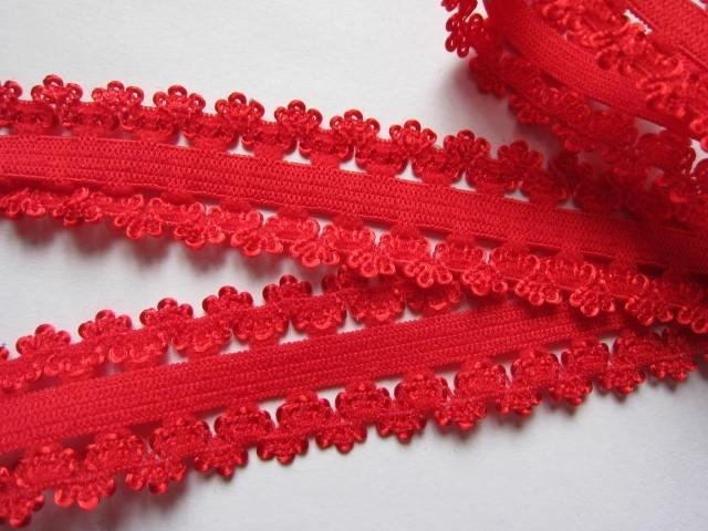 haarband elastiek kant rood 18mm