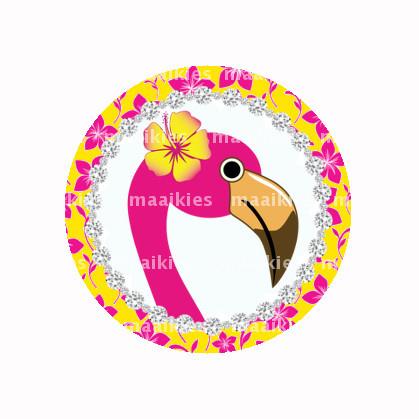 (FB593) Flamingo gele bloem