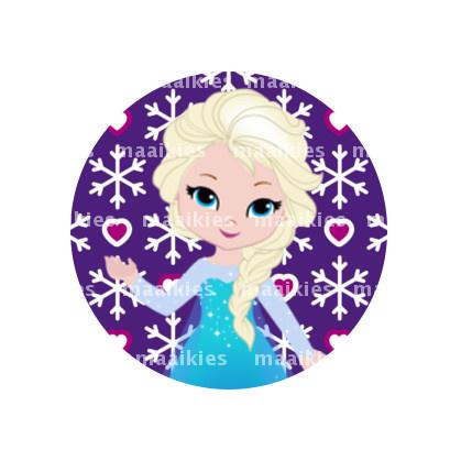 (FB937) Elsa purple heart