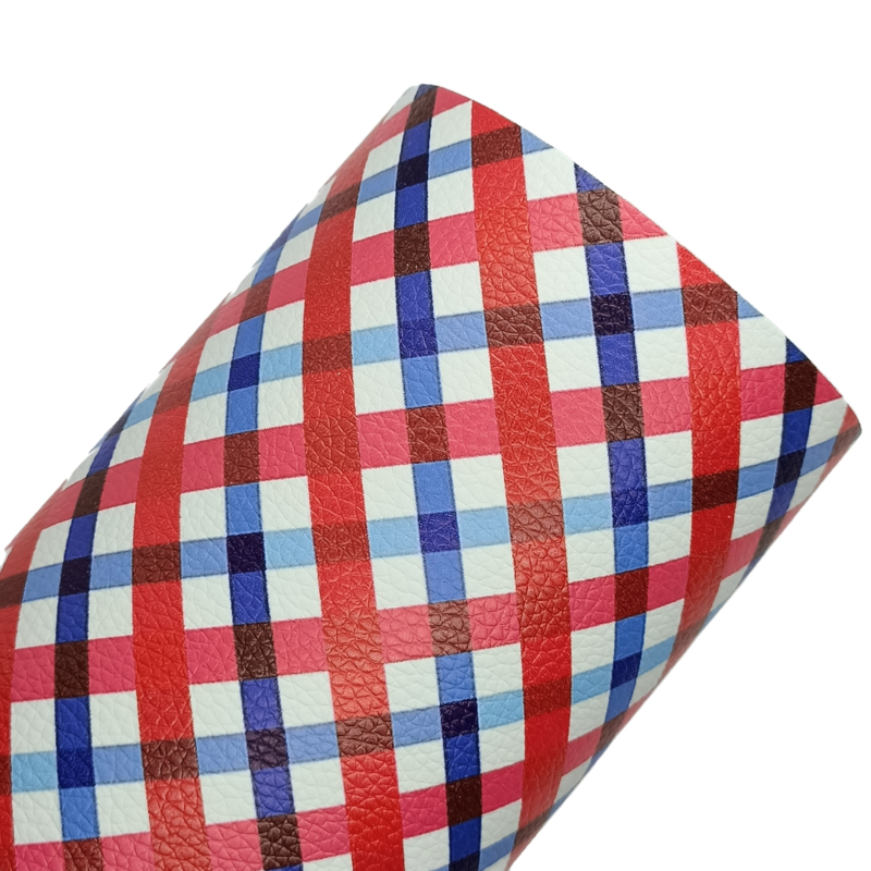 Rood wit blauw gingham ruit lapje