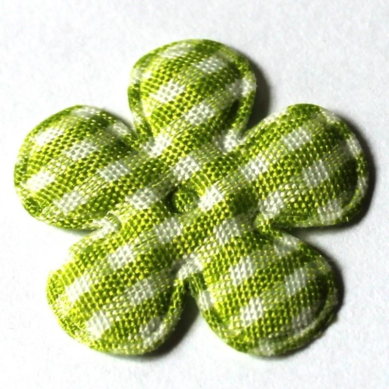 25mm ruit bloem lime 10 stuks