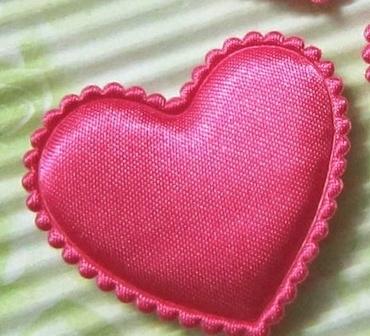 Satijn hart fuchsia
