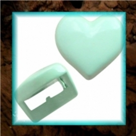 Chill schuiver Hartje 9 mm - Pastel turquoise groen