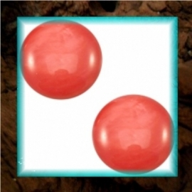 Cabochon Polaris Mosso Shiny 12 mm - Paparacha Roze