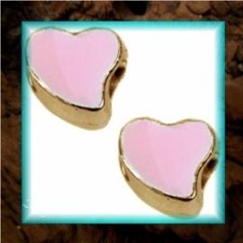 DQ metaal schuiver Hart goud - Roze